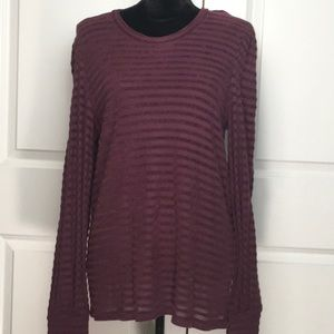 Lucky Brand Striped Chennile Top